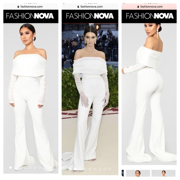 629a33b6a54b NEW Kendall Jenner white jumpsuit from FN. NWT. Fashion Nova
